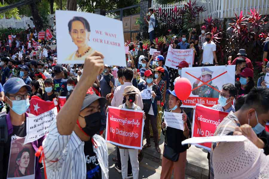 Myanmar-military-coup-2021-public-protests