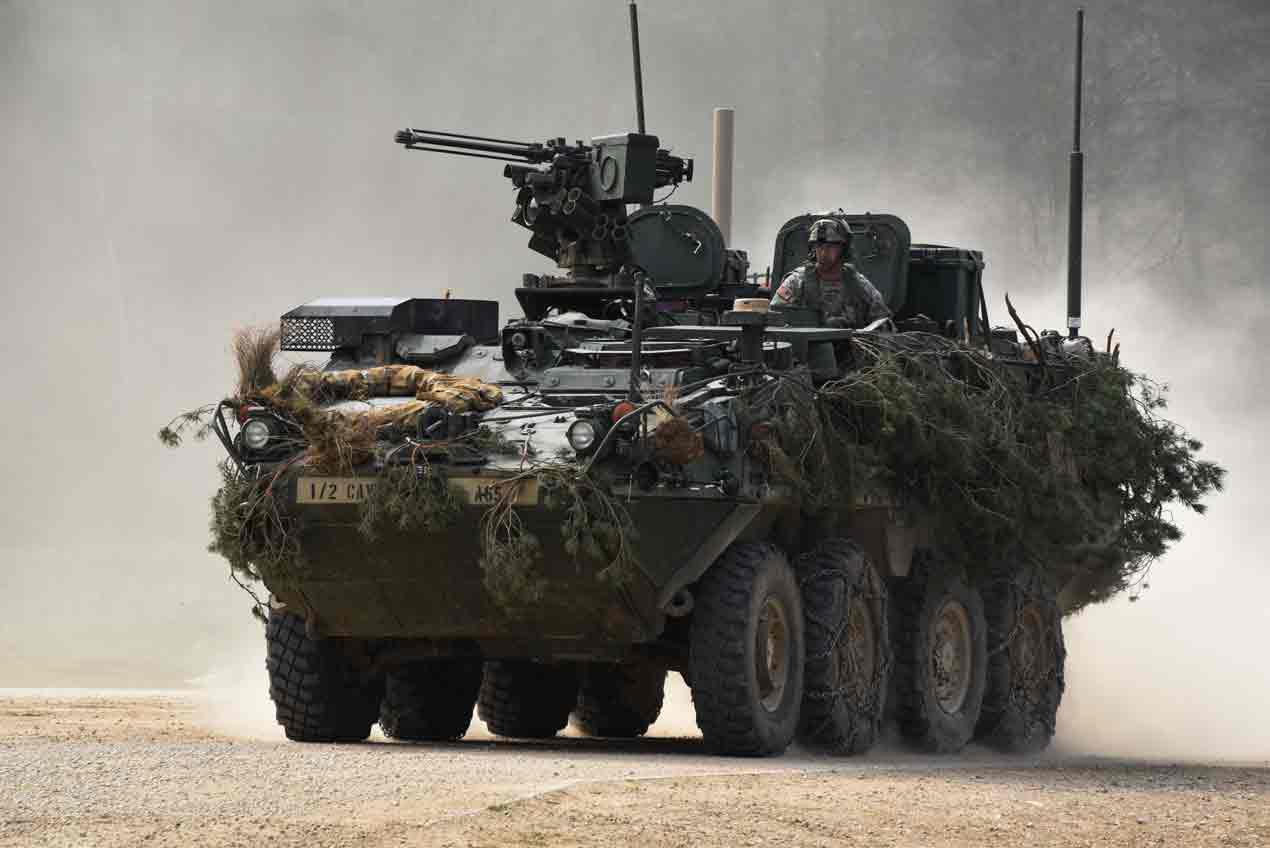 Upgunning the Stryker armoured vehicle
