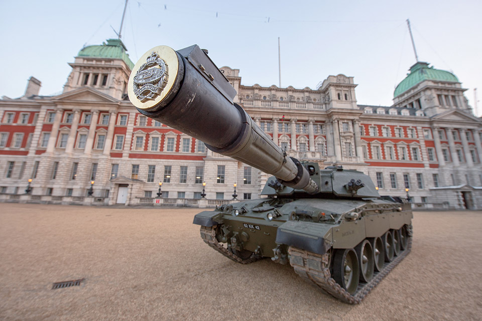 A Challenger 2 at Horse Guards in London.